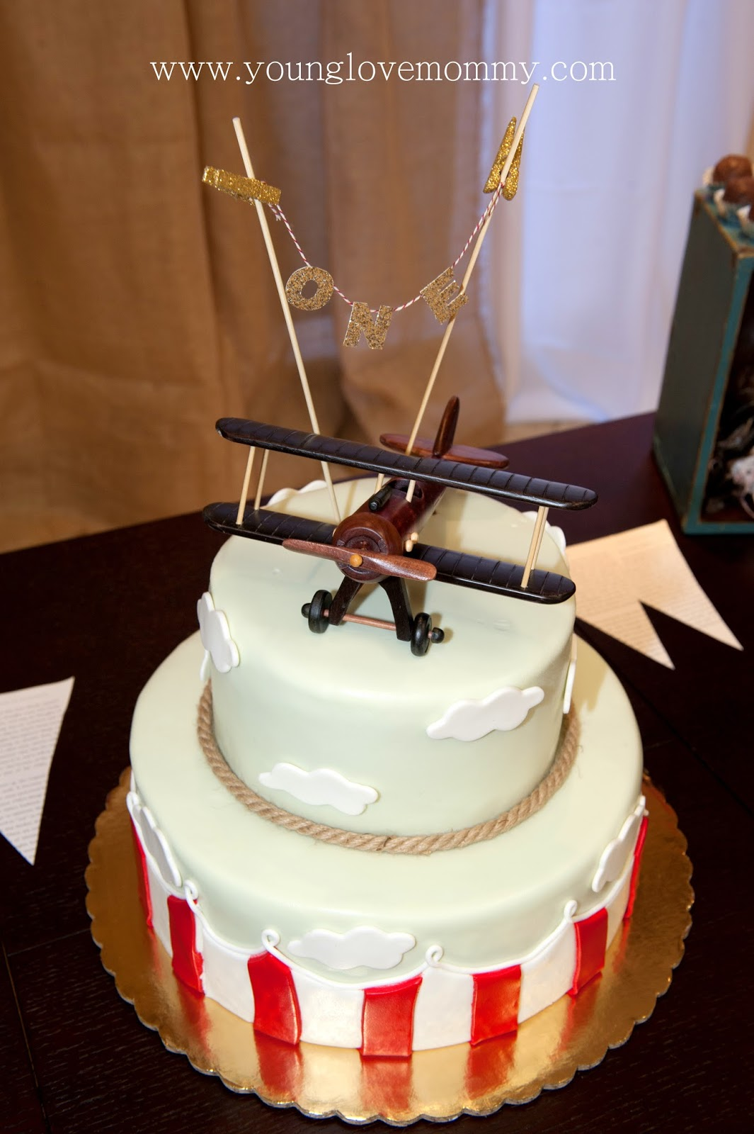 Vintage Airplane Party Airplane cake topper