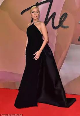 Lady Gaga  all elegant to British Fashion Awards