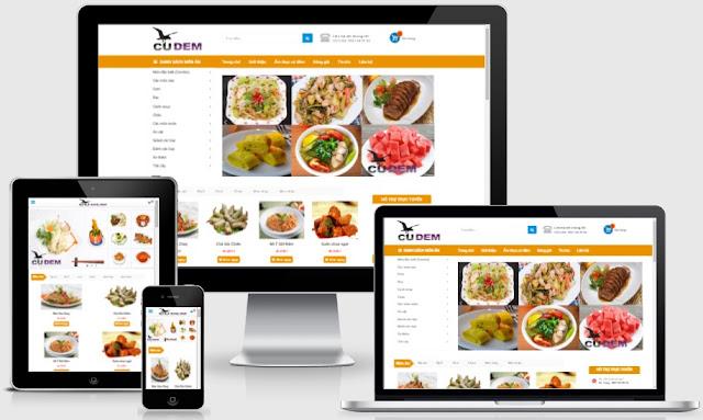 Template blogspot bán hàng đồ ăn nhanh chuẩn seo
