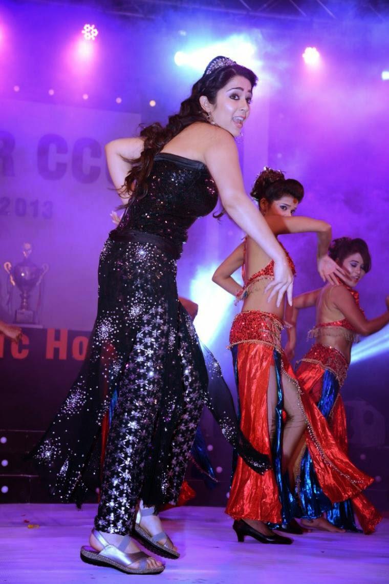 Tamilcinestuff   Charmi Kaur Hot Dance Performance On -9598