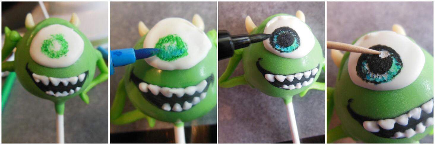 Monsters Inc Mike Wazowski Cake Pops Pint Sized Baker