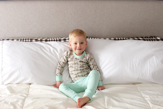 organic cotton elephant safari pyjamas from Finn + Emma