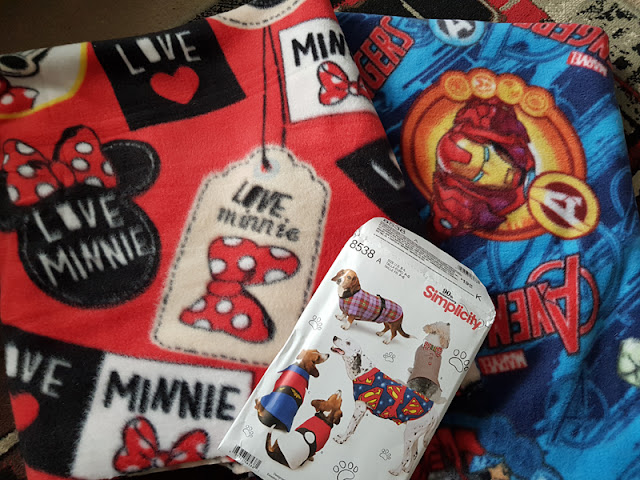 Disney fabrics bought to make dog coats with