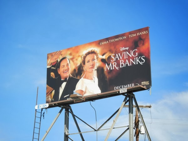 Saving Mr Banks film billboard