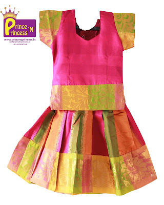 kids pattu pavadai silk langa online new born