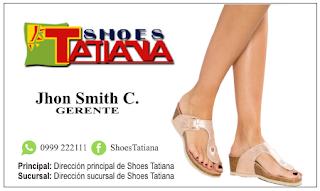 Tarjetas de negocio sandalias de mujer