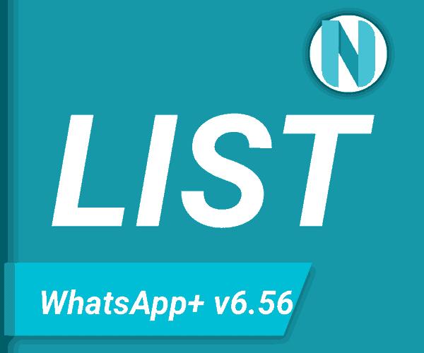 List WhatsApp+ v6.56 APK Nandur93