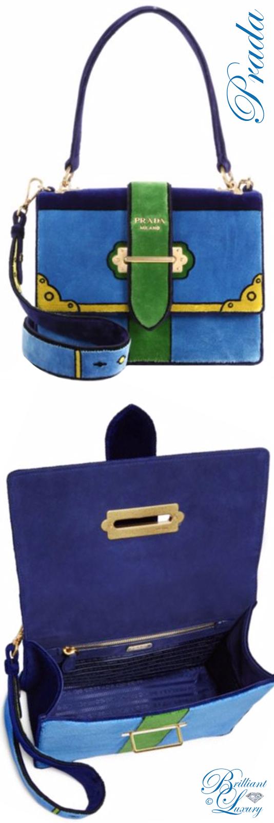 Brilliant Luxury ♦ Prada Cahier Colorblock Velvet Handbag