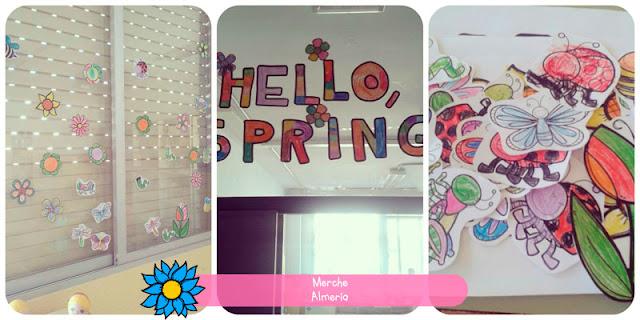 Mural de la primavera de la teacher Merche