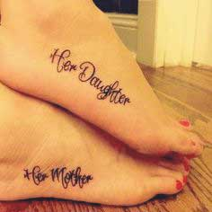 Matching tattoos for mother and sister