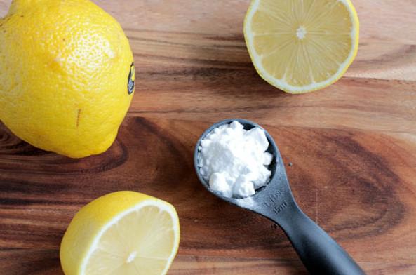 Mặt nạ trị mụn trứng cá bằng baking soda, chanh