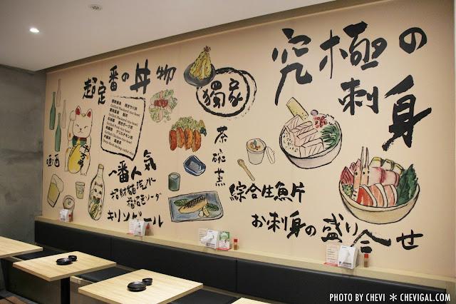 IMG 0056 - 丼丼亭,丼飯咖哩飯生魚片與沙拉。午間限定套餐更便宜喔(已歇業)