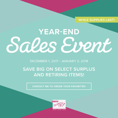 stampin ware house year end sales event and a christmas card too