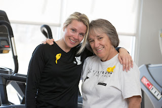 LIVESTRONG at the YMCA alumna and program mentor Judy Ammindown with LIVESTRONG at the YMCA Program Coordinator and Trainer Jackie Robison