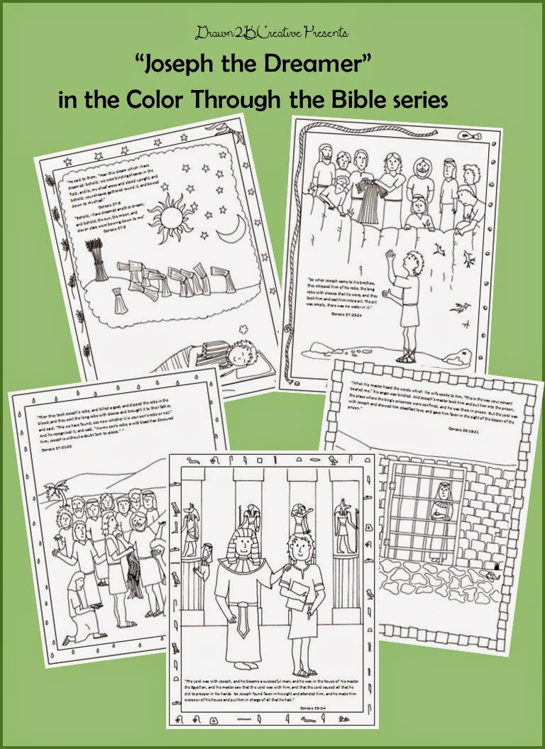 Joseph the Dreamer Coloring Pages Part 1 - Drawn2BCreative