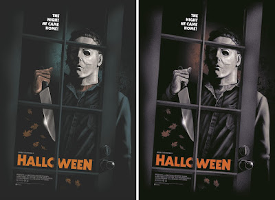 Halloween Movie Poster Screen Print by Ghoulish Gary Pullin x Grey Matter Art