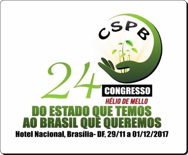 PRESIDENTE DO SINSERSB - SENTO-SÉ/BA MARCA PRESENÇA NO 24º CONGRESSO DA CSPB