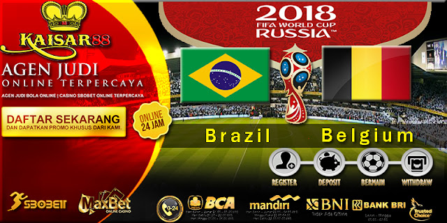 Prediksi Bola Jitu Brazil vs Belgium 7 Juli 2018