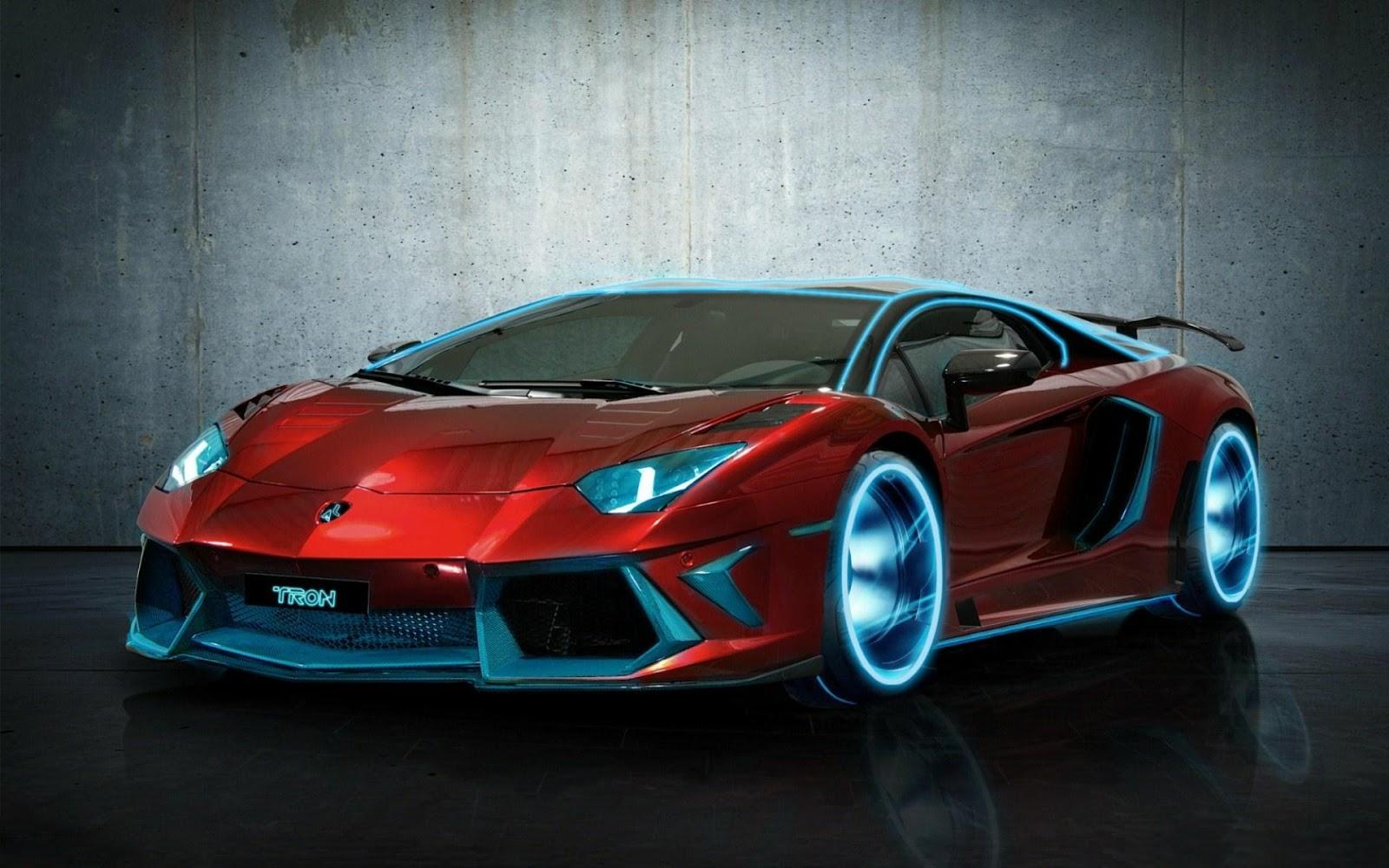 Cool Cars Lamborghini Neon Sports Car Wallpaper
