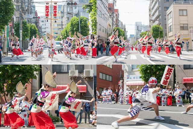 江戸っ子連、マロニエ祭りでの阿波踊りの写真