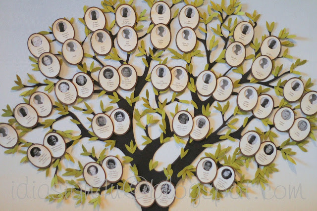 Our Family Tree   DIY Mixed Media Canvas Art Piece by ilovedoingallthingscrafty.com