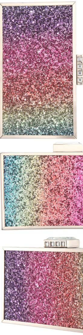 Nina Rainbow Glitter Minaudière