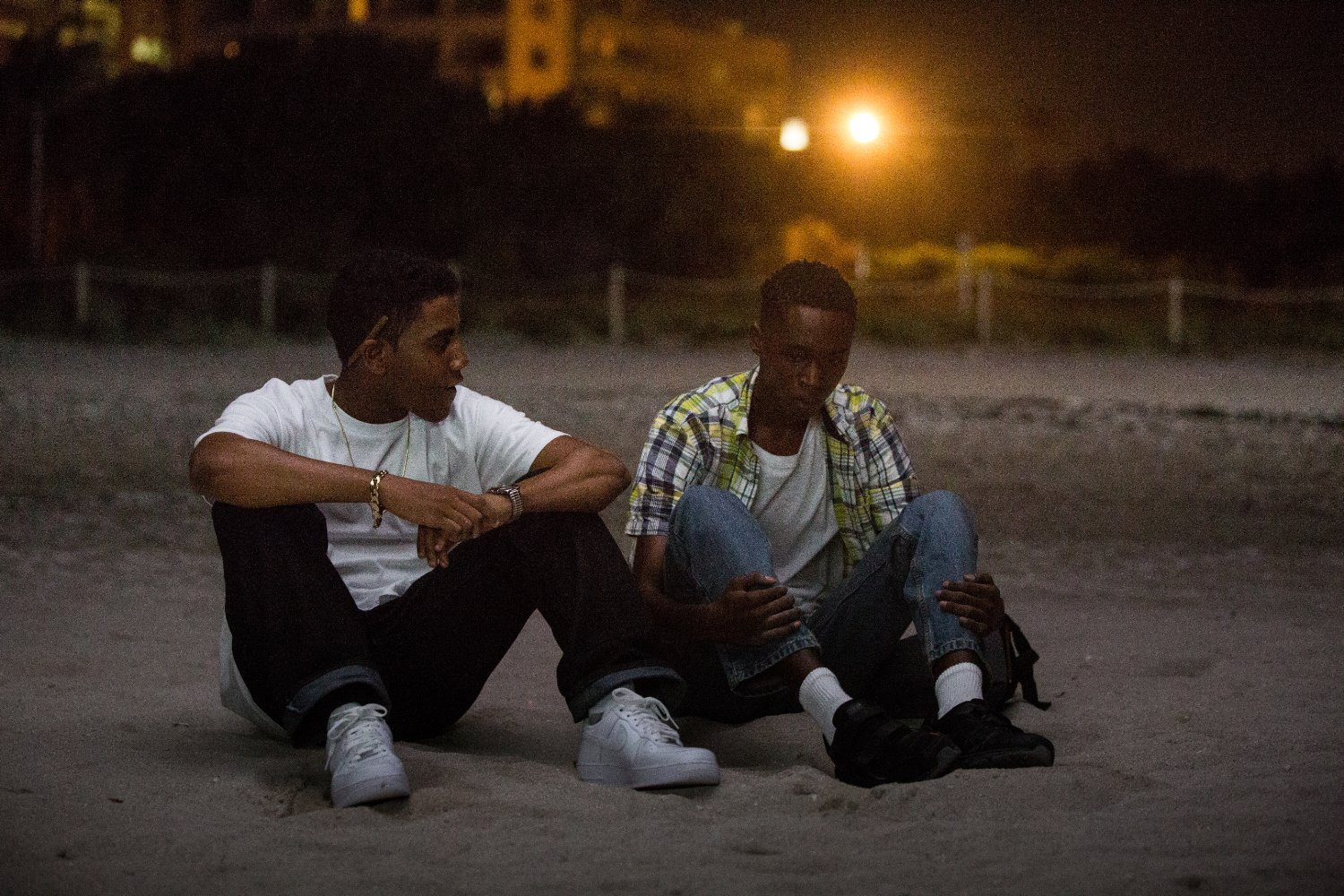 ... in a scene from moonlight based on a play by tarell mccraney this film