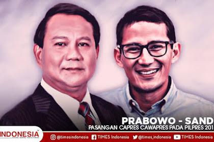 Survey IDM, Elektabilitas Prabowo - Sandi 56,39 %, Jokowi - Ma'ruf 35,58 %
