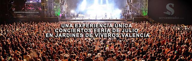 Conciertos en los viveros. Conciertos Feria de Julio de Valencia 2016