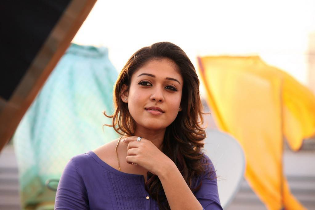 Nayanthara Pics From Good Evening Movie In Blue Dress