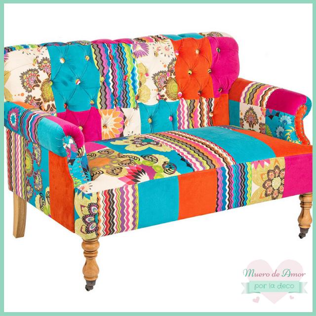 Sofá de colores para decoración de tiendas