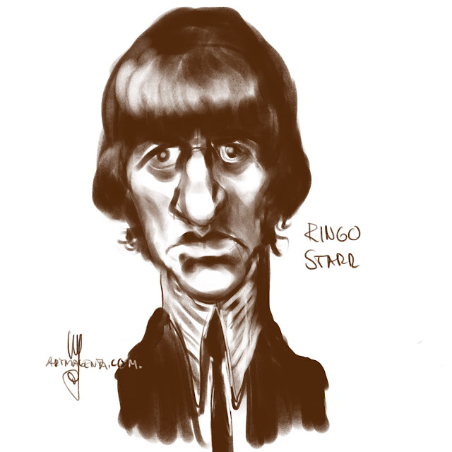 Ringo Starr caricature by Artmagenta