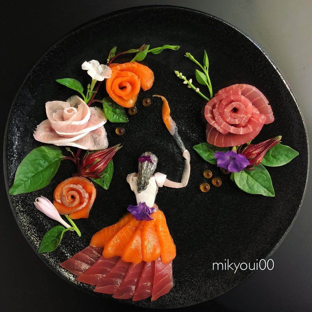 05-Painting-with-Food-Mikyou-Sashimi-Art-in-Fish-Food-Art-www-designstack-co