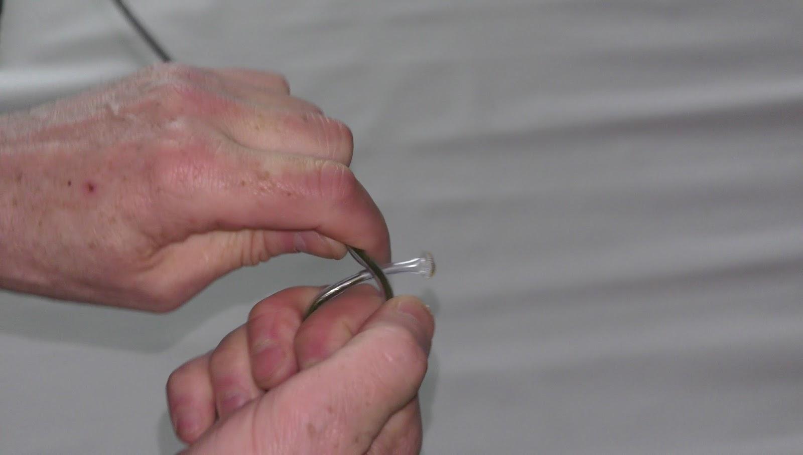 Random Bits: Plant holder of wire hanger for aquarium