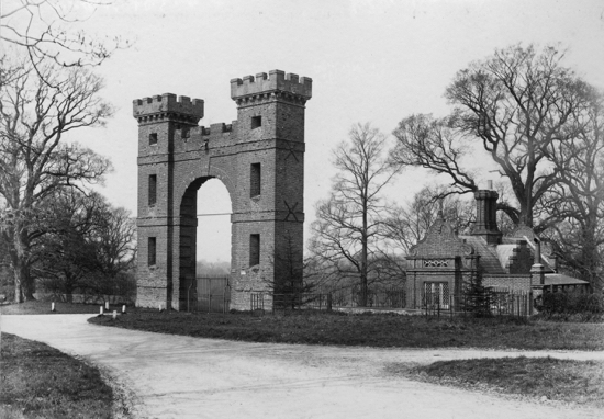 Folly Arch and Lodge c1900 Image from P.Grant by G. Knott, part of the Images of North Mymms Collection