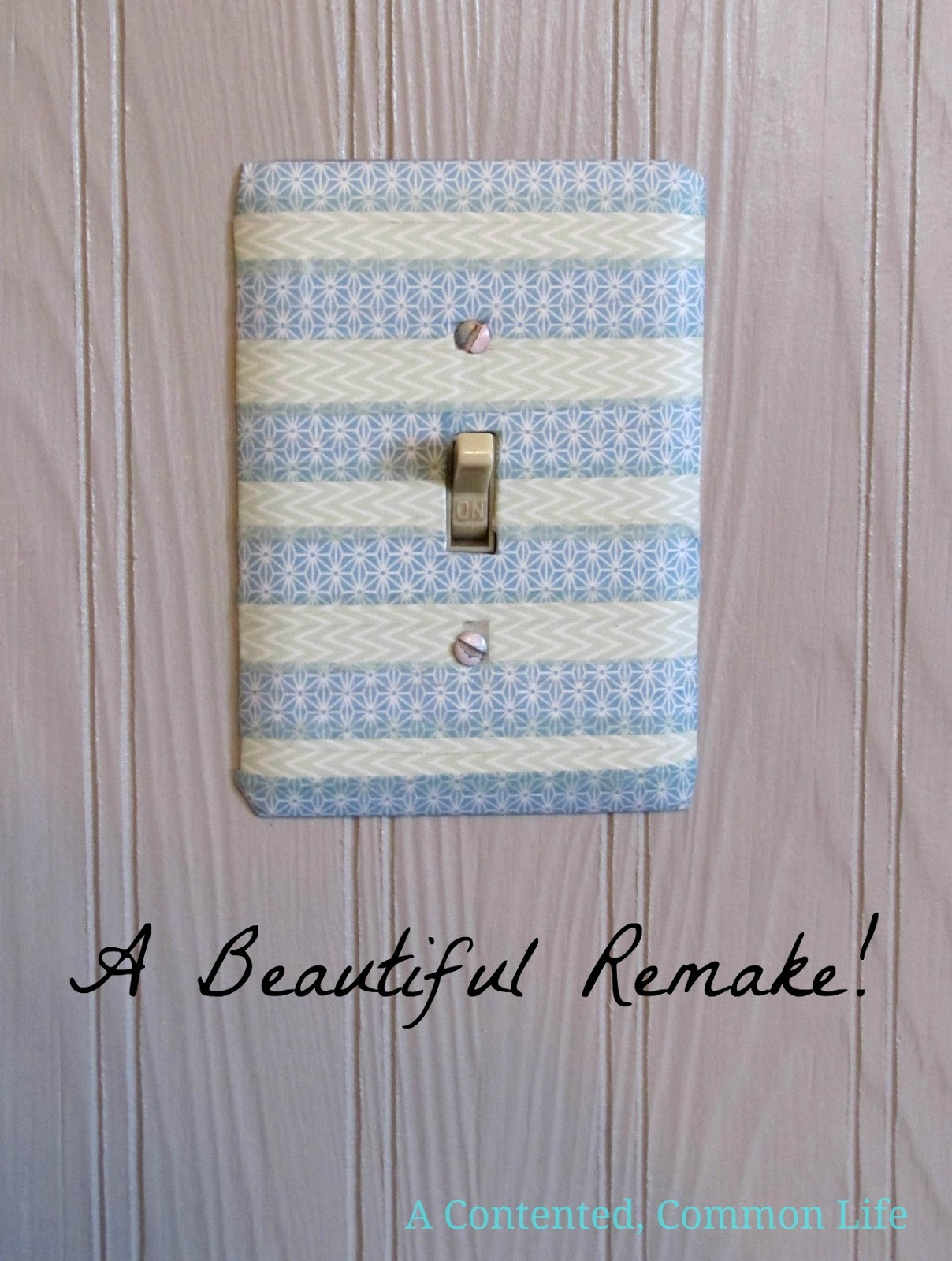 A Contented, Common Life: Tutorial: Washi Tape Light Switch Make Over