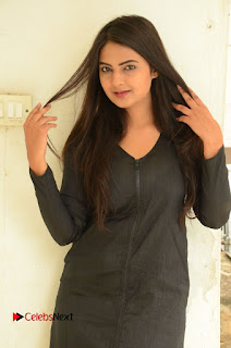 Actress Neha Deshpande Pictures in Black Short Dress at Bullet Movie Opening  0004