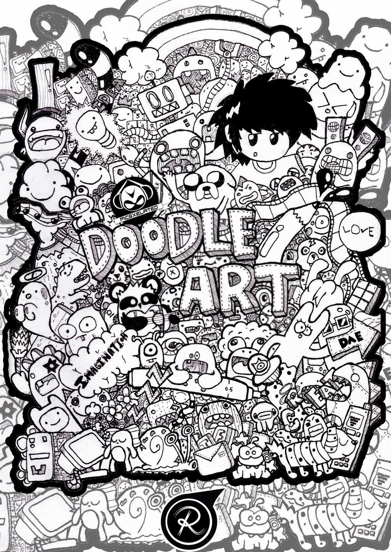 Girl With Balloons Wallpaper Doodle Art Syarifatul Adibah