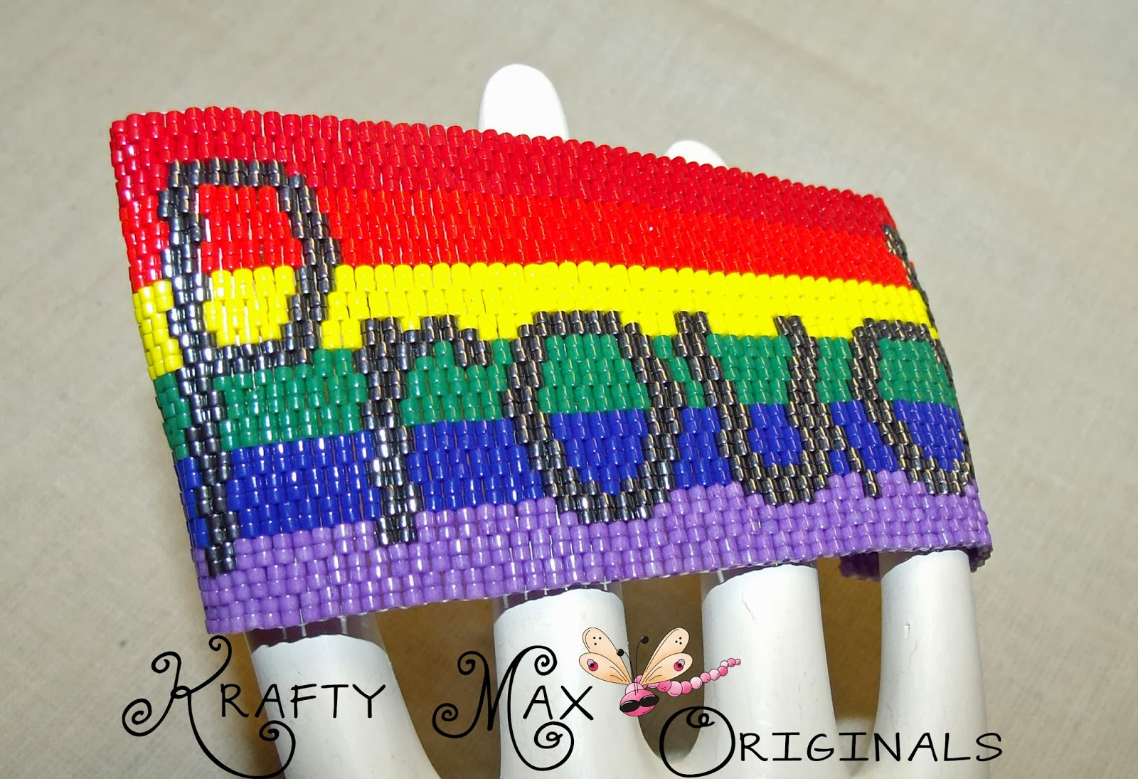 http://www.lajuliet.com/index.php/2013-01-04-15-21-51/ad/beaded,49/exclusive-rainbow-proud-pride-handmade-beadwoven-bracelet-a-krafty-max-original-design,252