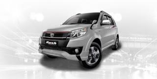 Harga Toyota Rush di Pontianak Warna Silver Mica Metallic