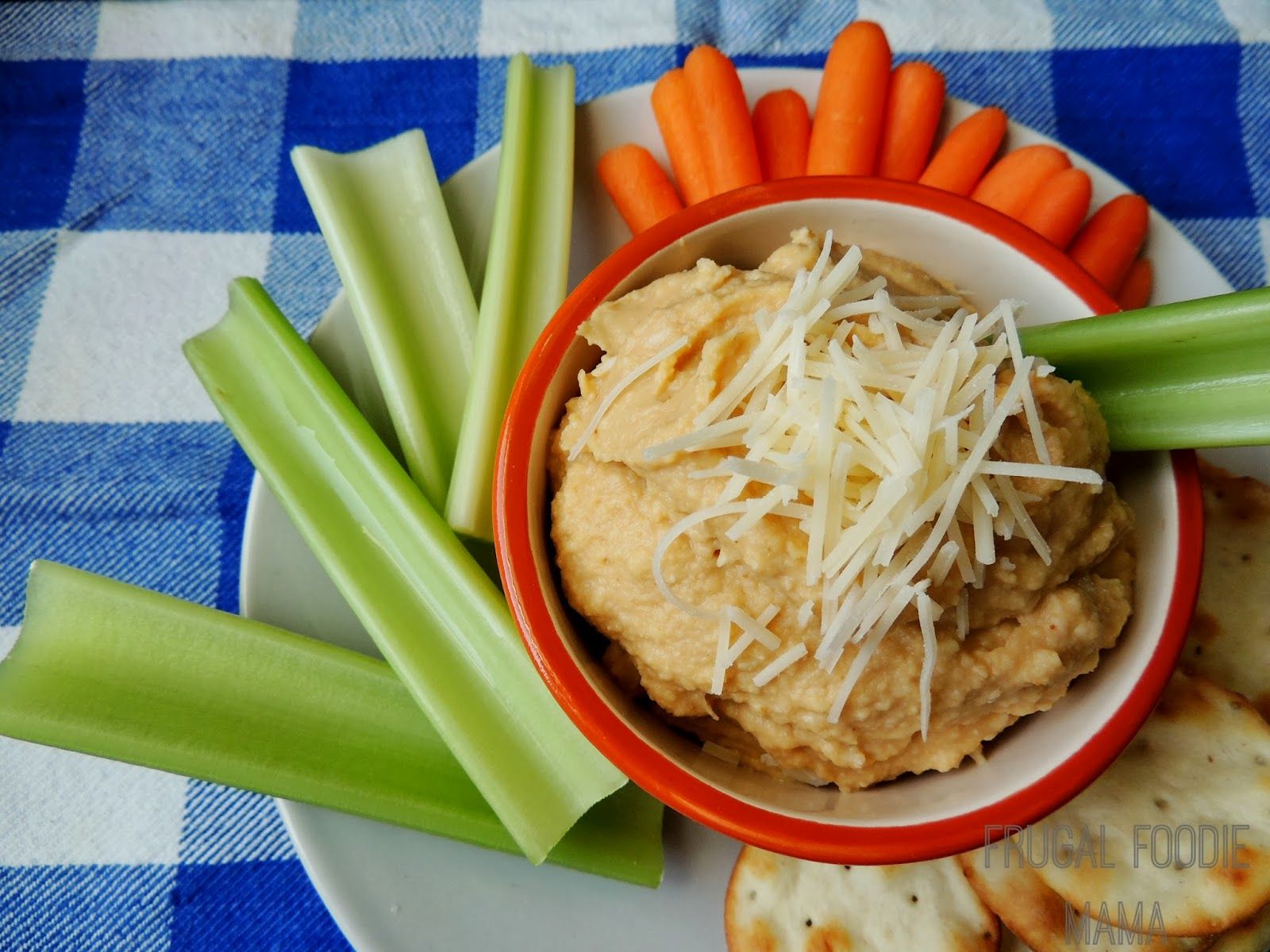 This quick & healthy Buffalo Parmesan Hummus has all the tastiness of a favorite game day flavor minus the guilt.