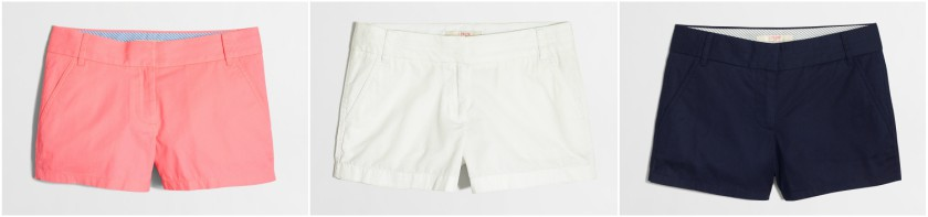 J. Crew Factory Chino Shorts $10-$12 (reg $35)