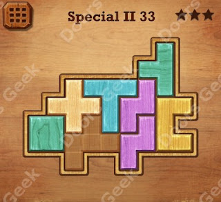 Cheats, Solutions, Walkthrough for Wood Block Puzzle Special II Level 33