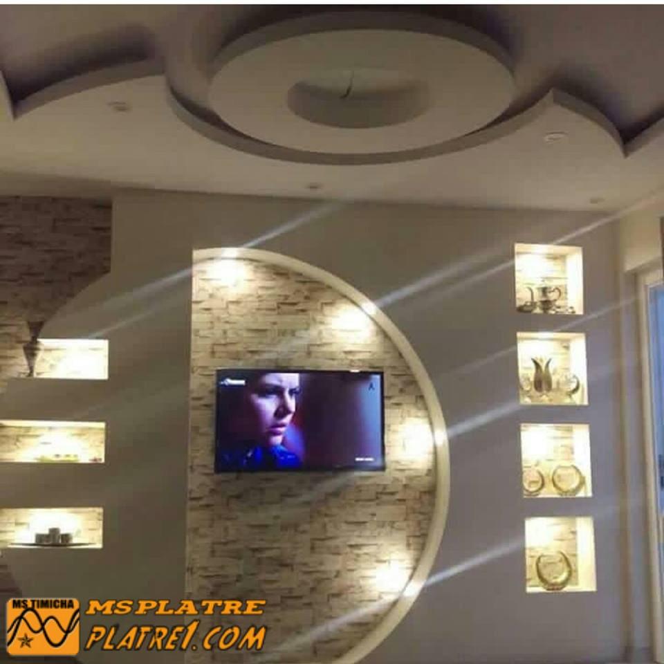 Decoration Platre Design : Meuble tv en placoplatre ms timicha