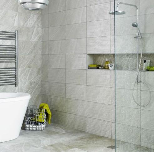 gambar motif keramik dinding kamar mandi minimalis modern