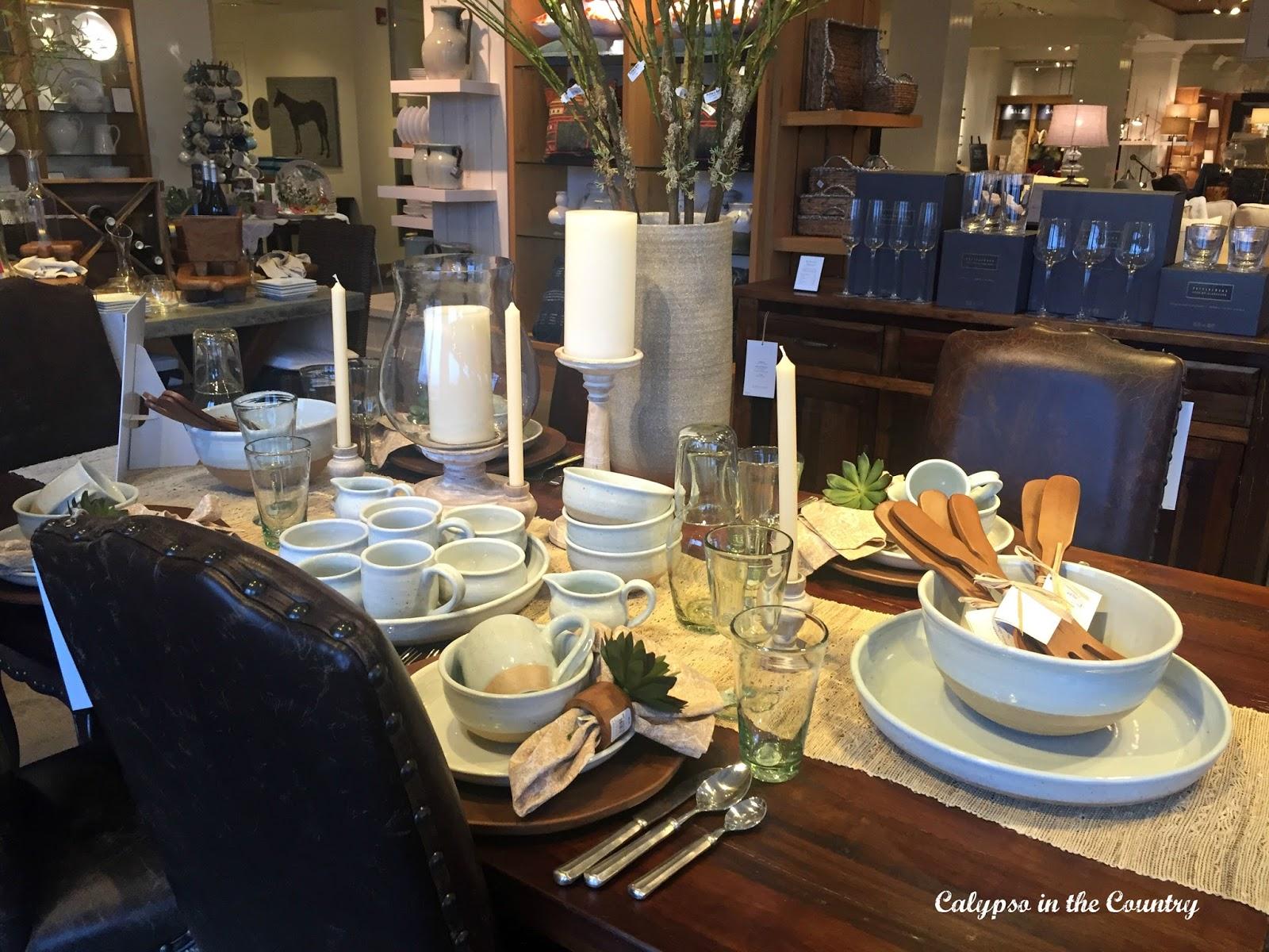 Pottery Barn table display
