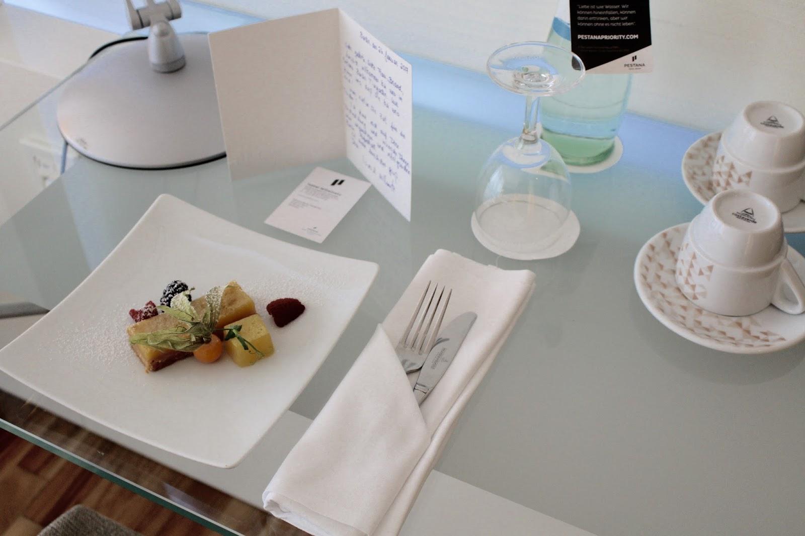 Willkommensgruß aus der Hotelküche des Pestana Hotels Berlin
