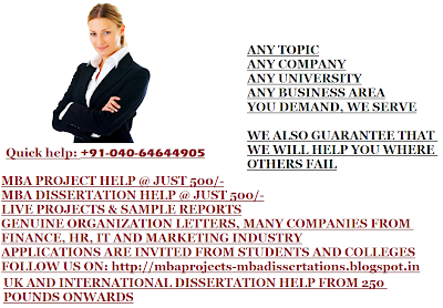 Dissertation projects on marketing