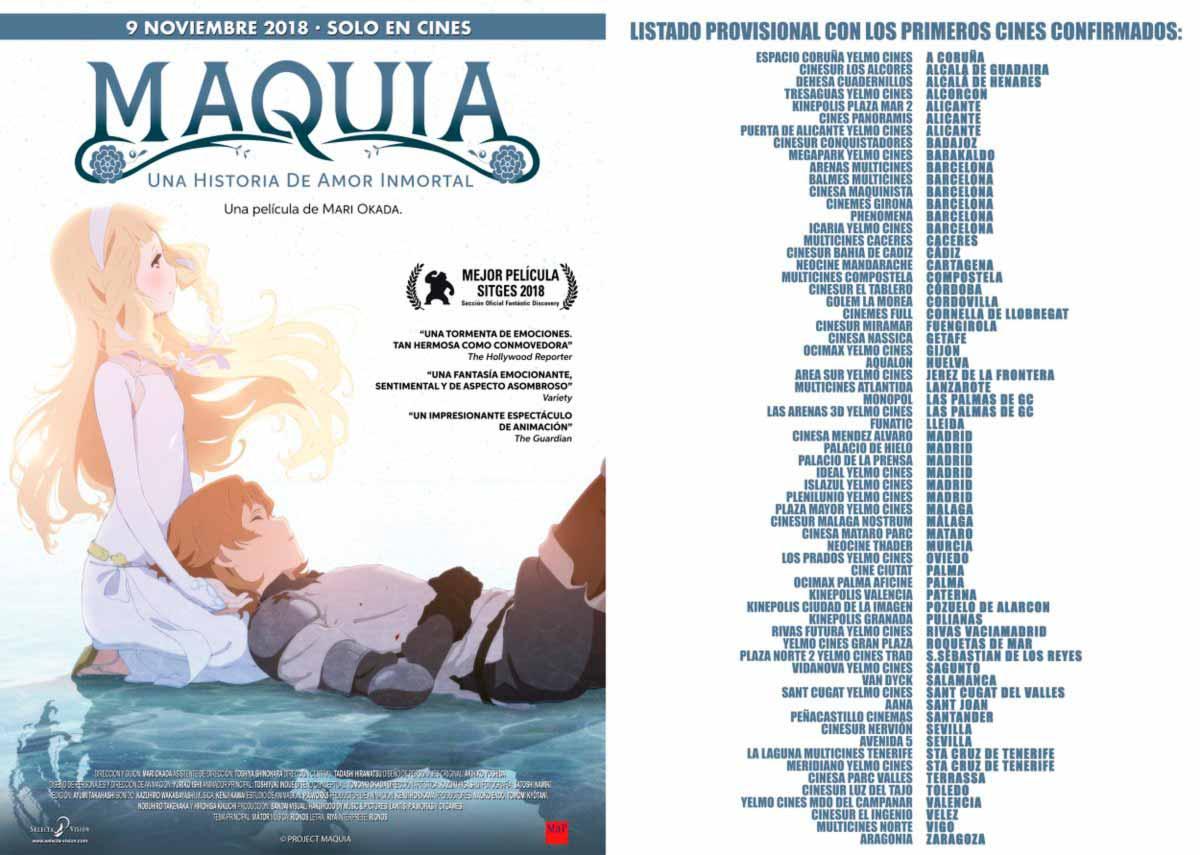 Maquia: Una historia de amor inmortal - Selecta Vision - estreno en cines