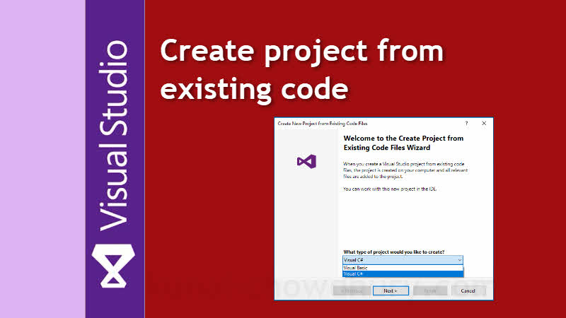 Visual Studio Productivity Tips: How to create a project from existing code in Visual Studio